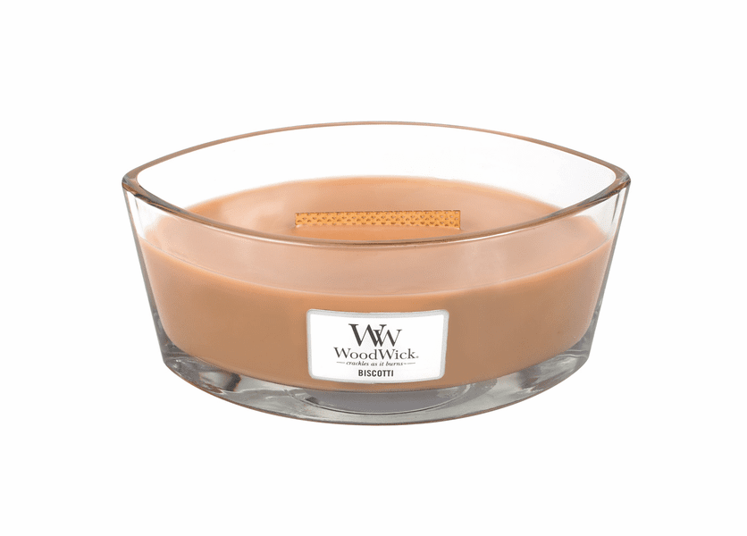 _DISCONTINUED - Biscotti WoodWick Candle 16 oz. HearthWick Flame