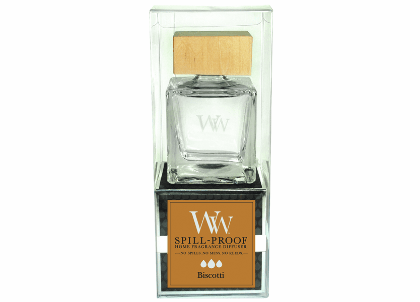 _DISCONTINUED - Biscotti WoodWick Spill-Proof Home Fragrance Diffuser
