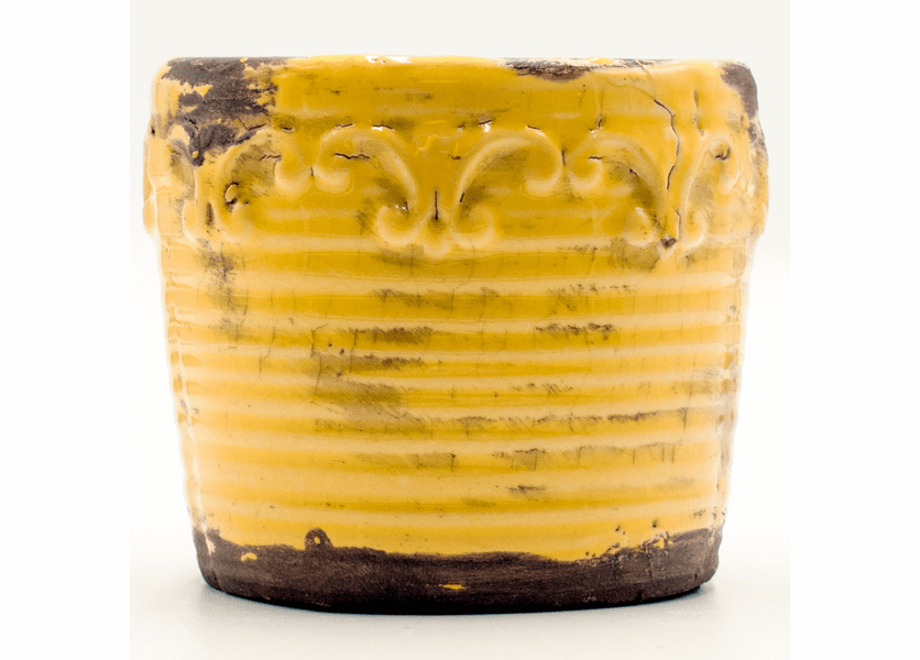 _DISCONTINUED - Bitter Orange Marmalade Vintage Round Pot Swan Creek Candle (Color: Yellow)