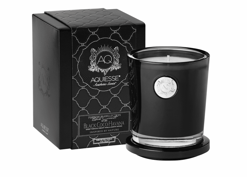 _DISCONTINUED - Black Coco Havana Large Soy Candle by Aquiesse