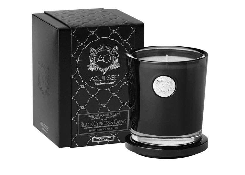 _DISCONTINUED - Black Cypress & Cassis Large Soy Candle by Aquiesse