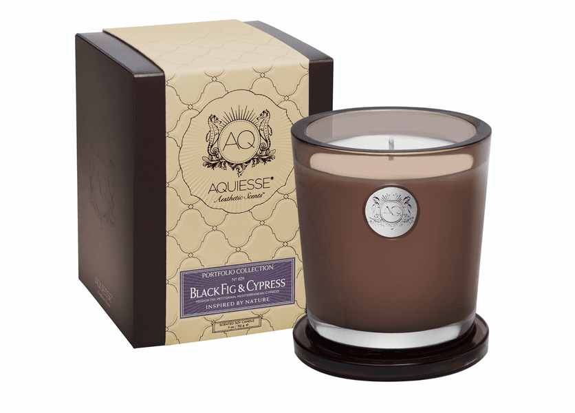 _DISCONTINUED - Black Fig & Cypress Large Soy Candle by Aquiesse