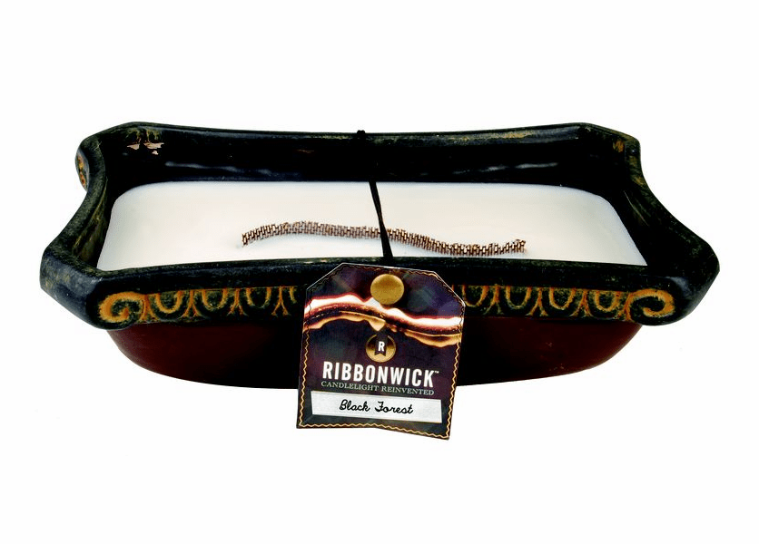 _DISCONTINUED - Black Forest RibbonWick Medium Candle