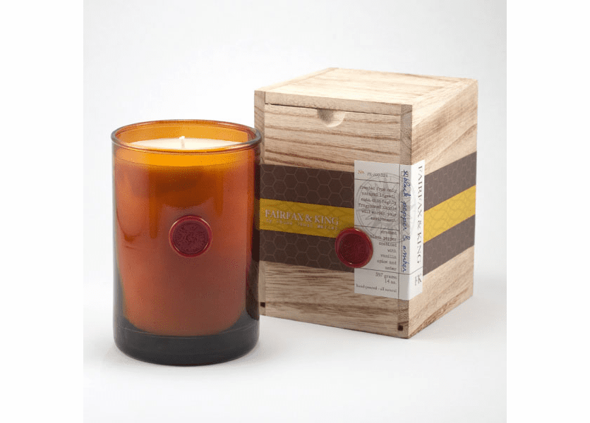 _DISCONTINUED - Black Pepper & Amber 14 oz. Brown Tumbler in Wooden Box  - Found Goods Market