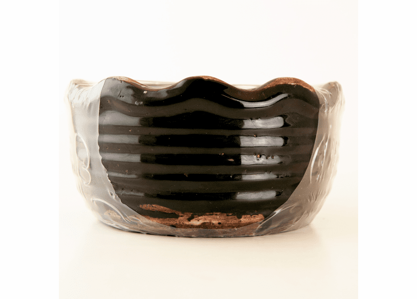 _DISCONTINUED - Black Plum & Prosecco Ribbed Ruffled Bowl Swan Creek Candle (Color: Black)