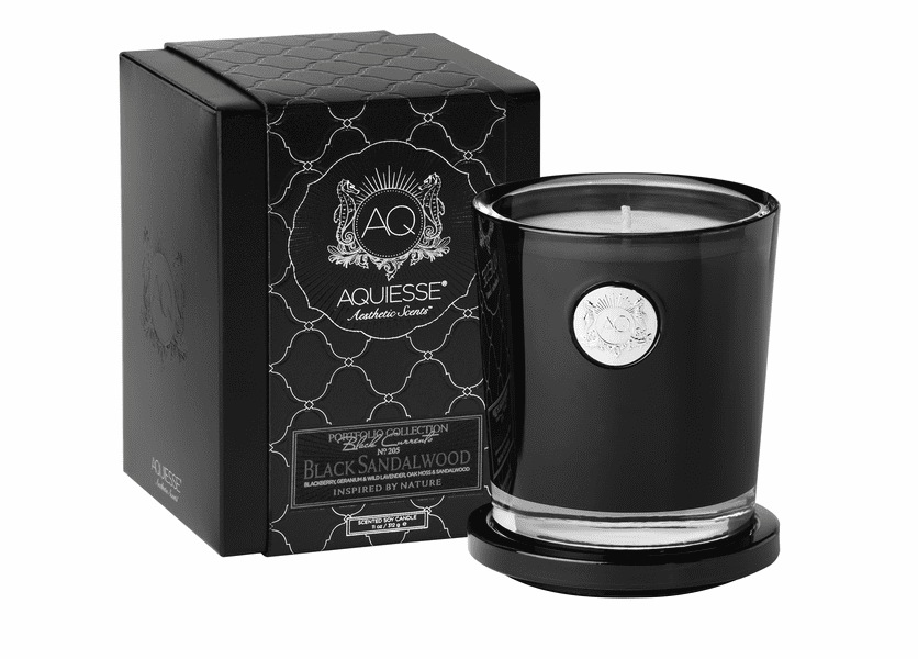_DISCONTINUED - Black Sandalwood Large Soy Candle by Aquiesse