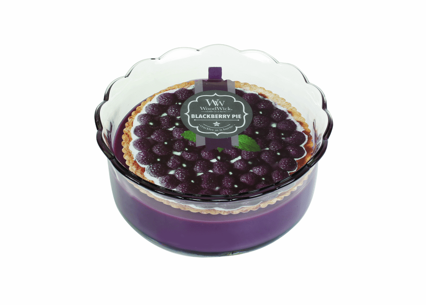 _DISCONTINUED - Blackberry Pie WoodWick Pie Collection Candle