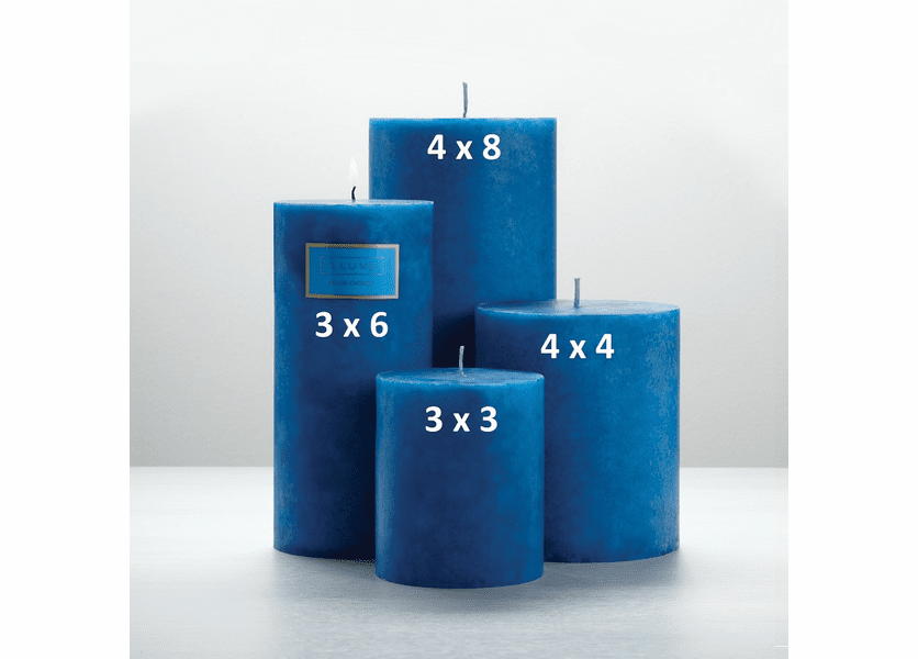 _DISCONTINUED - Blue Coral 4 x 8 Round Pillar Illume Candle