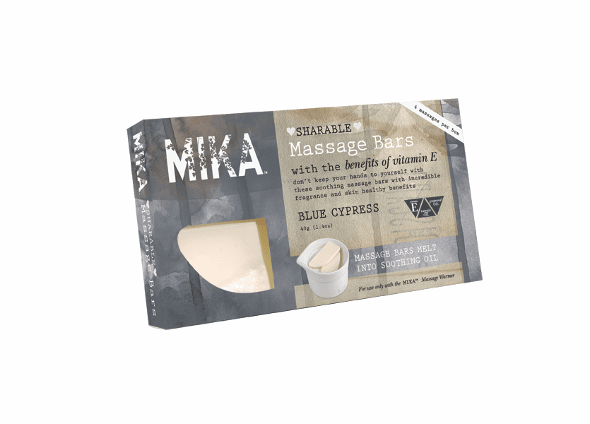 _DISCONTINUED - Blue Cypress MIKA Massage Melt Bar