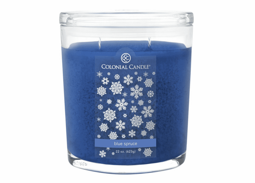 _DISCONTINUED - Blue Spruce 22 oz. Oval Jar Colonial Candle
