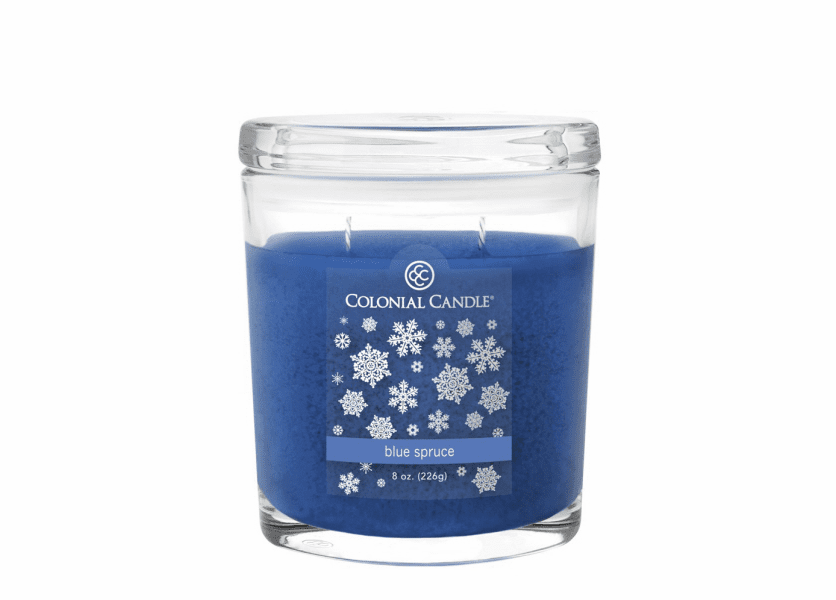 _DISCONTINUED - Blue Spruce 8 oz. Oval Jar Colonial Candle