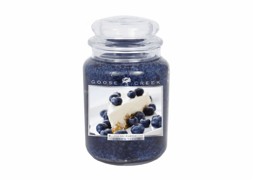 _DISCONTINUED - Blueberry Cheesecake 26 oz. Essential Series Goose Creek Jar Candle