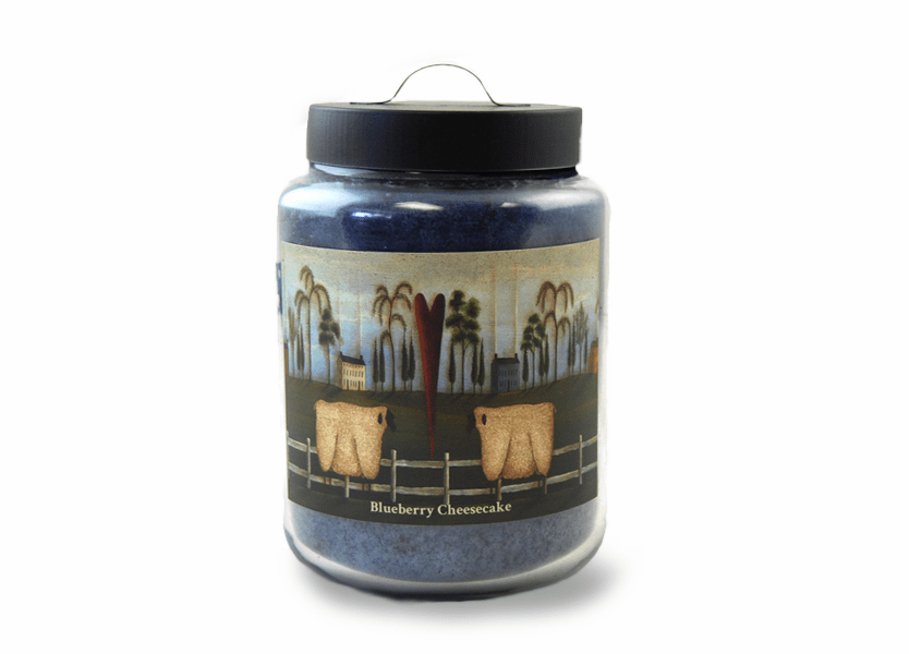 _DISCONTINUED - Blueberry Cheesecake 26 oz. Folk Art Collection Goose Creek Jar Candles
