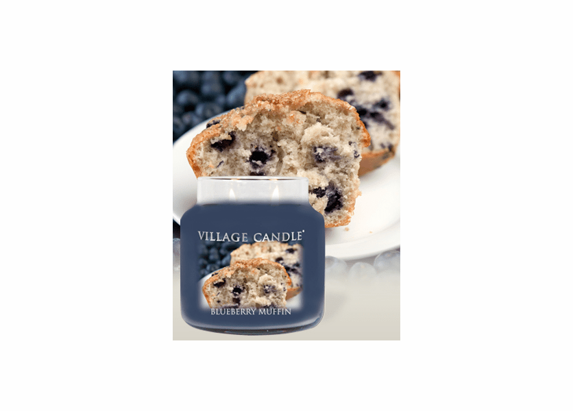 _DISCONTINUED - Blueberry Muffin 26 oz. Premium Round by Village Candles