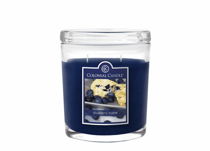 _DISCONTINUED - Blueberry Scone 8 oz. Oval Jar Colonial Candle