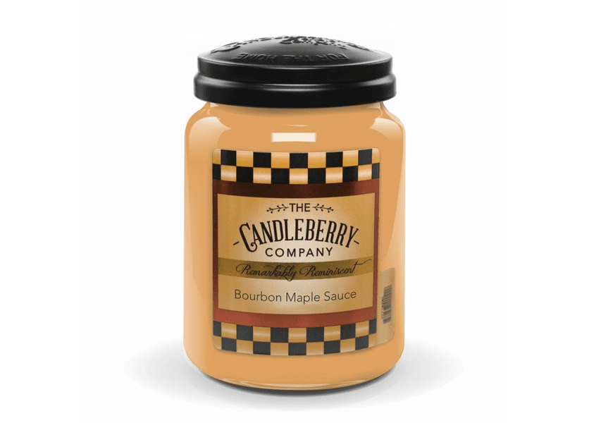 _DISCONTINUED - Bourbon Maple Sauce 26 oz. Large Jar Candleberry Candle