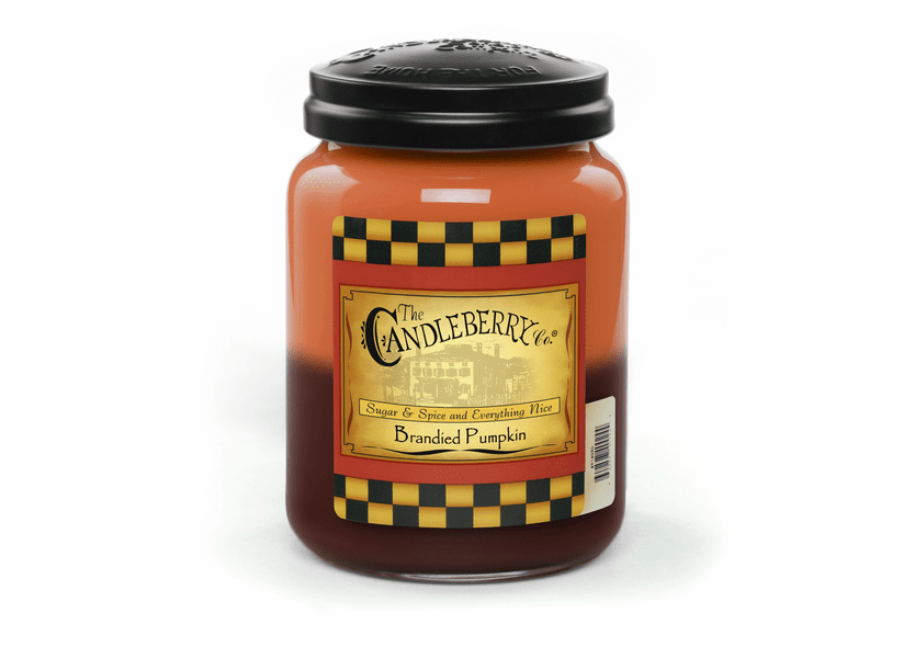 _DISCONTINUED - Brandied Pumpkin 26 oz. Large Jar Candleberry Candle
