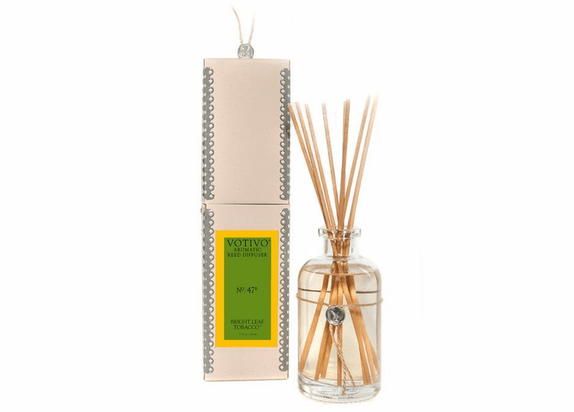 _DISCONTINUED - Bright Leaf Tobacco Aromatic Reed Diffuser Votivo Candle