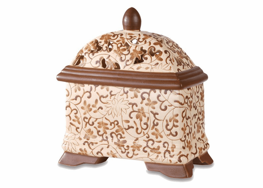 _DISCONTINUED - Brown Filigree Aroma Decor Diffuser by Greenleaf