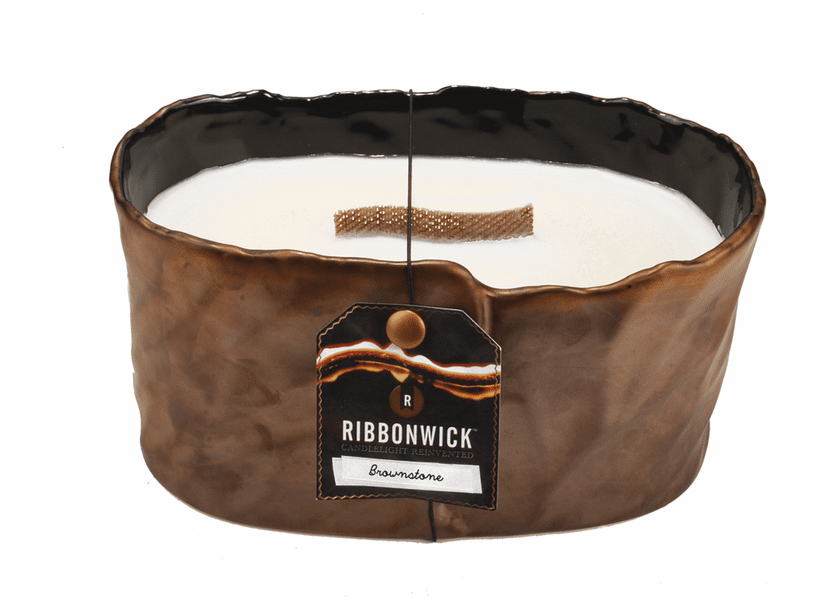_DISCONTINUED - Brownstone Large Oval RibbonWick Candle