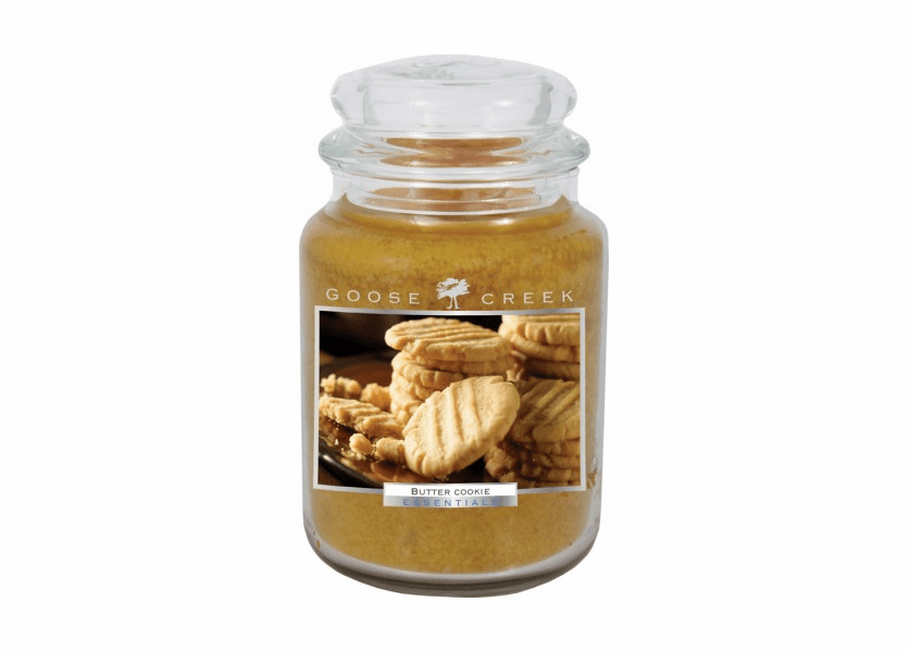_DISCONTINUED - Butter Cookie 26 oz. Essential Series Goose Creek Jar Candle