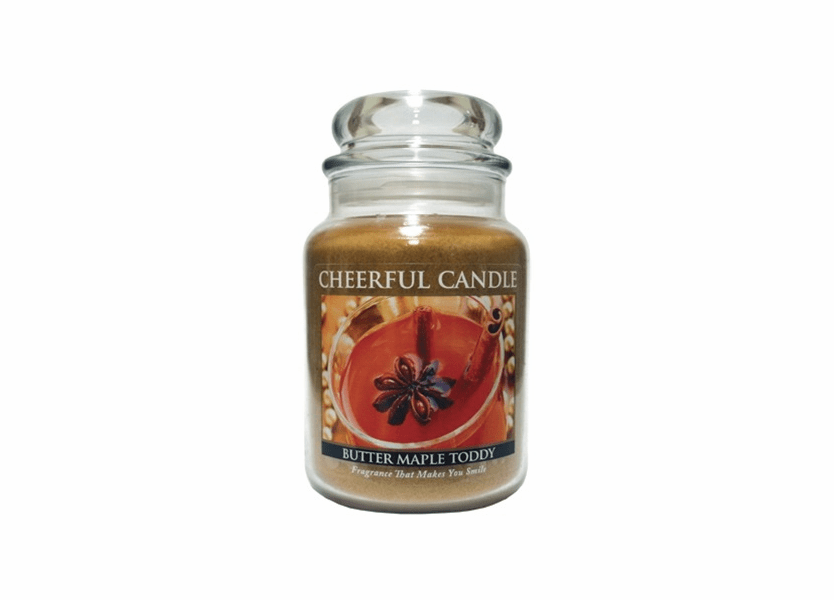_DISCONTINUED - Butter Maple Toddy 24 oz. Cheerful Candle by A Cheerful Giver