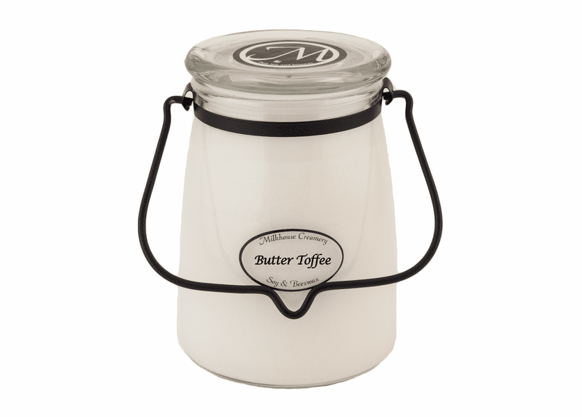_DISCONTINUED - Butter Toffee 22 oz. Butter Jar Candle by Milkhouse Candle Creamery