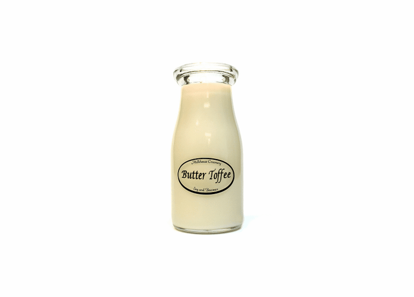_DISCONTINUED - Butter Toffee 8 oz. Milkbottle Candle by Milkhouse Candle Creamery