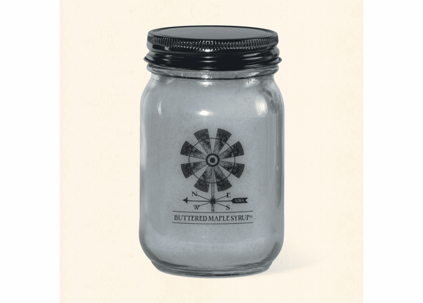 _DISCONTINUED - Buttered Maple Syrup Farmhouse Originals 12 oz. Pint Jar Crossroads Candle