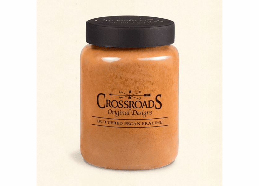 _DISCONTINUED - Buttered Pecan Praline 26 oz. Crossroads Candle