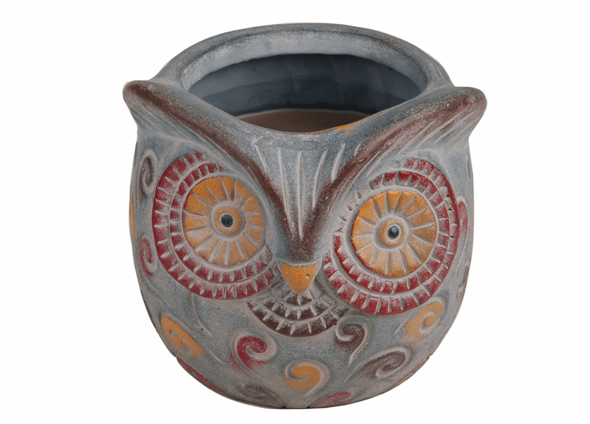 _DISCONTINUED - Campfire Marshmallow Large Owl Premium WoodWick Candle
