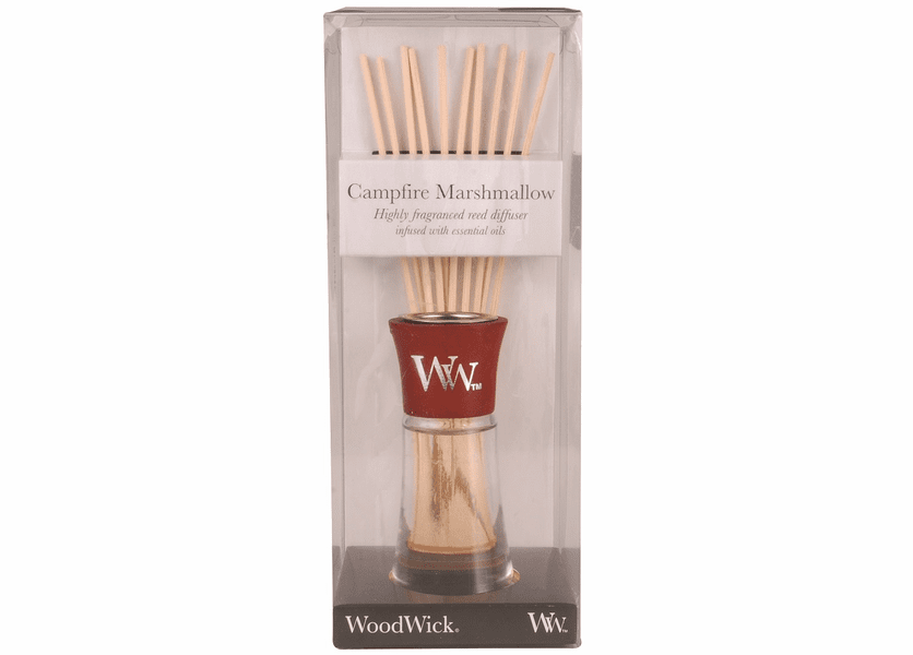 _DISCONTINUED - Campfire Marshmallow WoodWick 2 oz Reed Diffuser