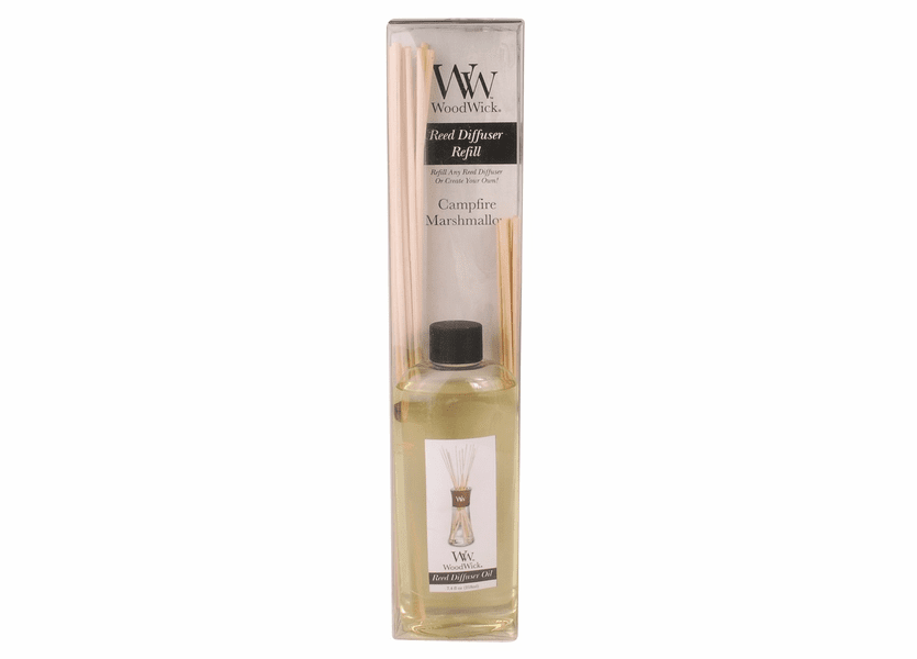 _DISCONTINUED - Campfire Marshmallow WoodWick 7.4 oz. Reed Diffuser REFILL