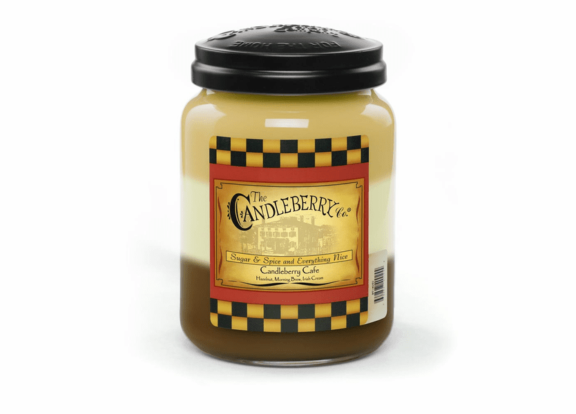 _DISCONTINUED - Candleberry Cafe 26 oz. Large Jar Candleberry Candle