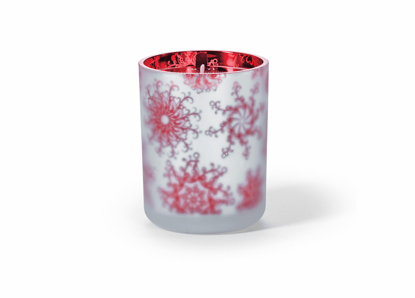 _DISCONTINUED - Candy Cane 16 oz. Holiday Shimmer Glass Candle by Root