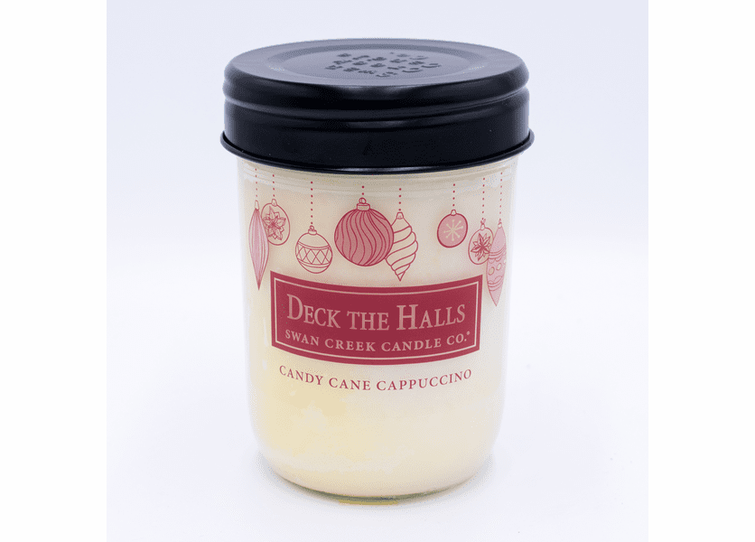 _DISCONTINUED - Candy Cane Cappuccino 12 oz. Swan Creek Christmas Traditions Jar Candle