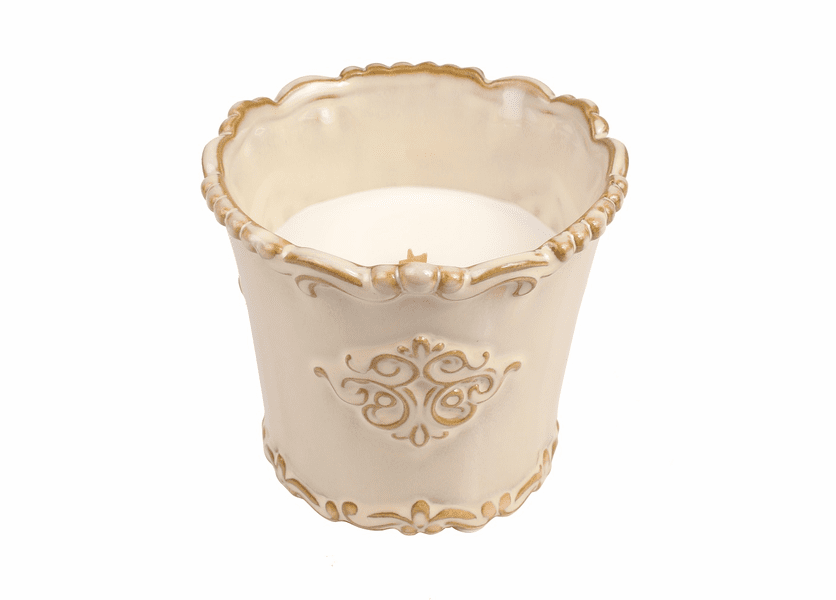 _DISCONTINUED - *Candy Cane Cupcake Holiday Vintage Ceramic Tumbler WoodWick Candle