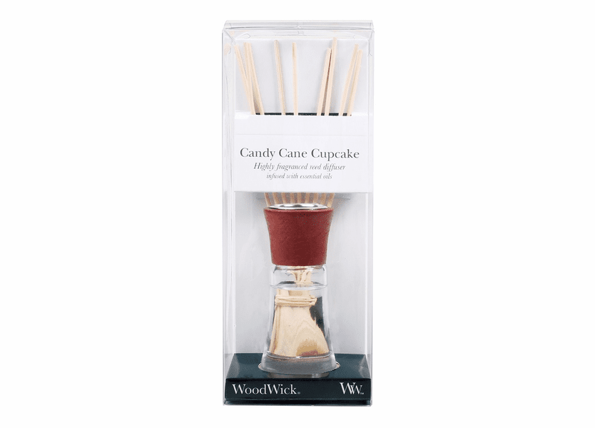 _DISCONTINUED - Candy Cane Cupcake WoodWick 2 oz. Reed Diffuser