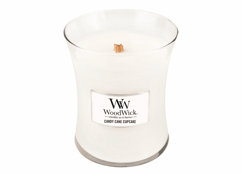 _DISCONTINUED - Candy Cane Cupcake WoodWick Candle 10oz.