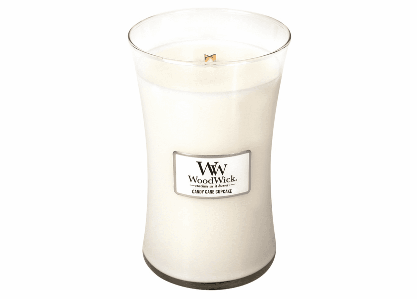 _DISCONTINUED - Candy Cane Cupcake WoodWick Candle 22oz.