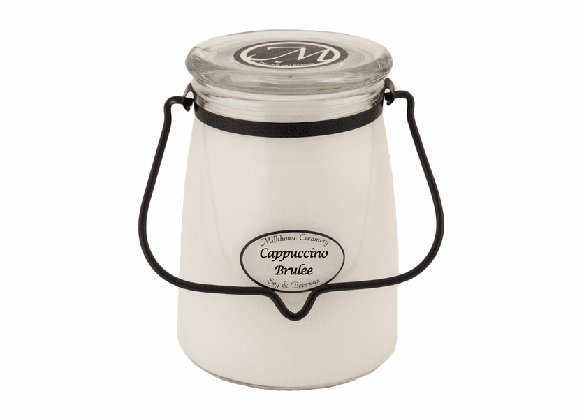 _DISCONTINUED - Cappuccino Brulee 22 oz. Butter Jar Candle by Milkhouse Candle Creamery