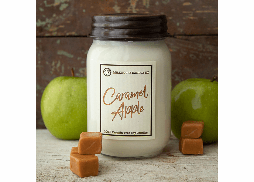 _DISCONTINUED - Caramel Apple 13 oz. Ltd. Edition Mason Jar Candle by Milkhouse Candle Creamery