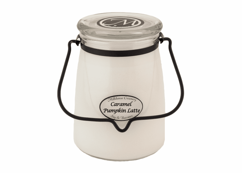 _DISCONTINUED - Caramel Pumpkin Latte 22 oz. Butter Jar Candle by Milkhouse Candle Creamery