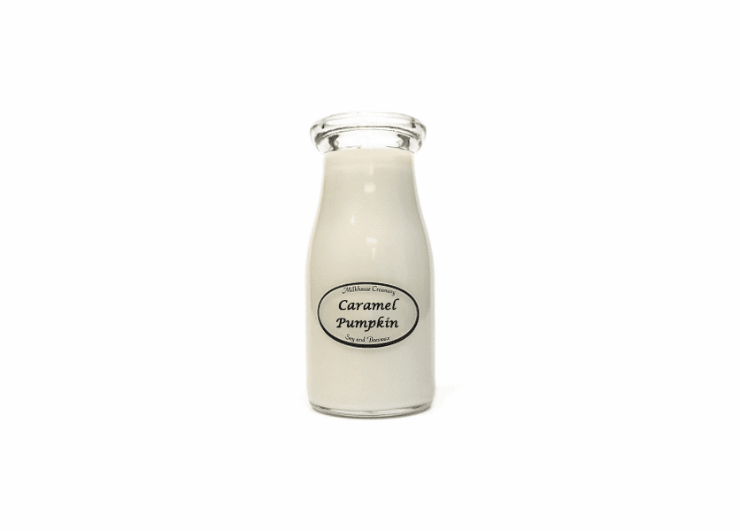 _DISCONTINUED - Caramel Pumpkin Latte 8 oz. Milkbottle Candle by Milkhouse Candle Creamery