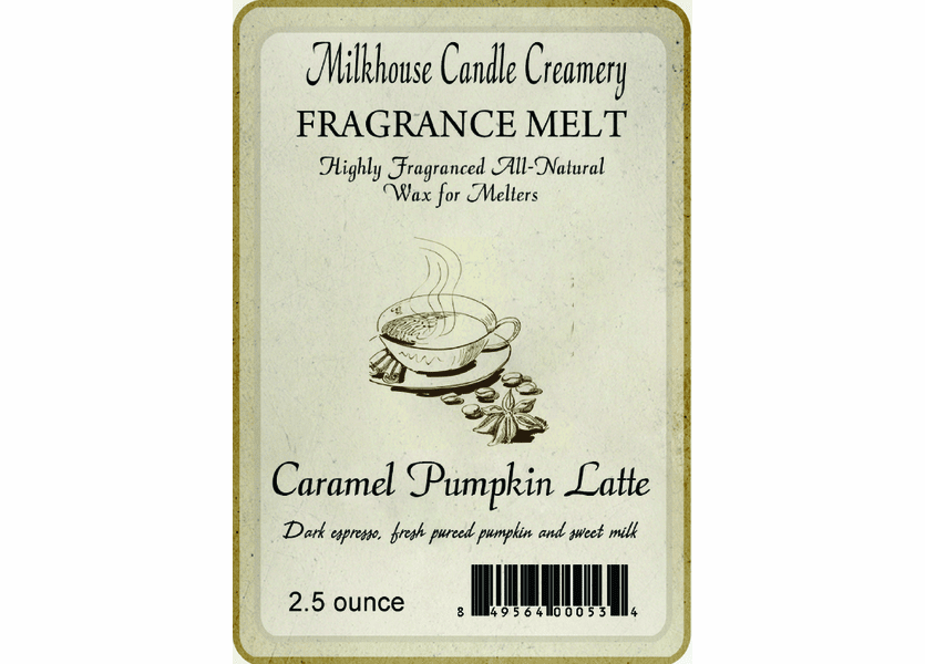 _DISCONTINUED - Caramel Pumpkin Latte Fragrance Melt by Milkhouse Candle Creamery