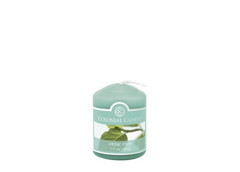 _DISCONTINUED - Cedar Mint 1.7 oz. Votive Colonial Candle