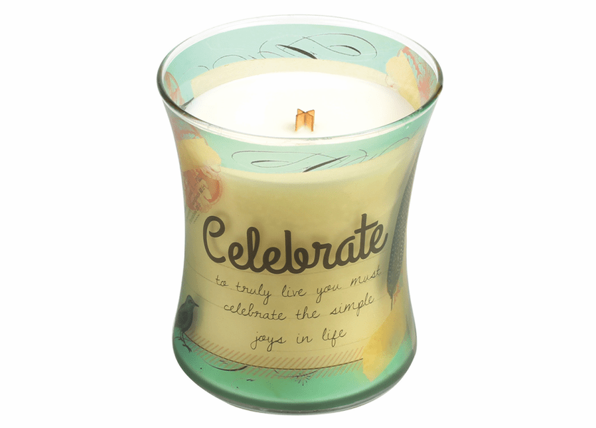 _DISCONTINUED - Celebrate Vanilla Bean Inspirational Collection Hourglass WoodWick Candle