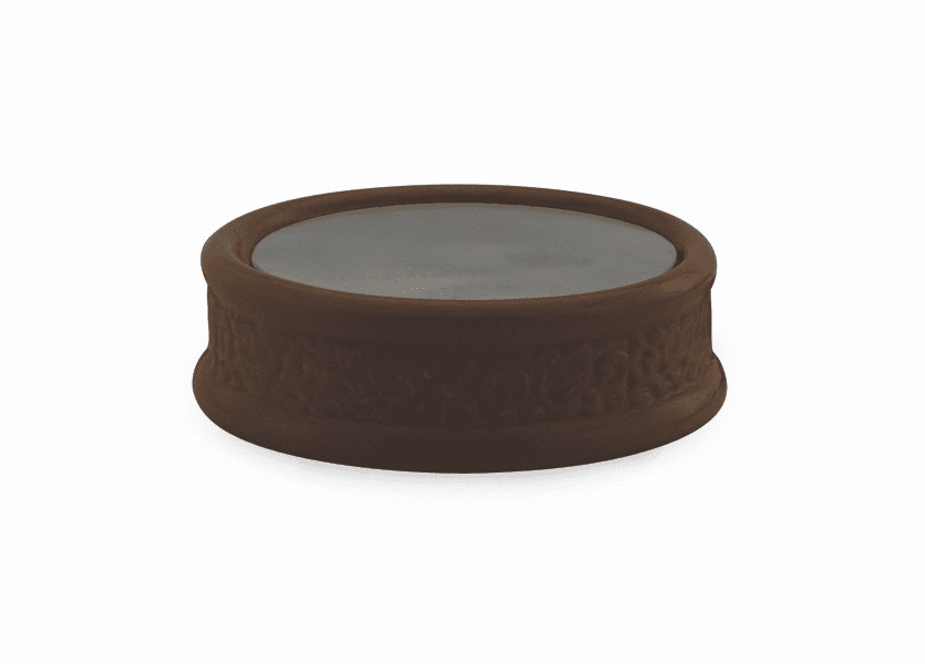 _DISCONTINUED - Century Brown Ceramic Plate Candle Warmer
