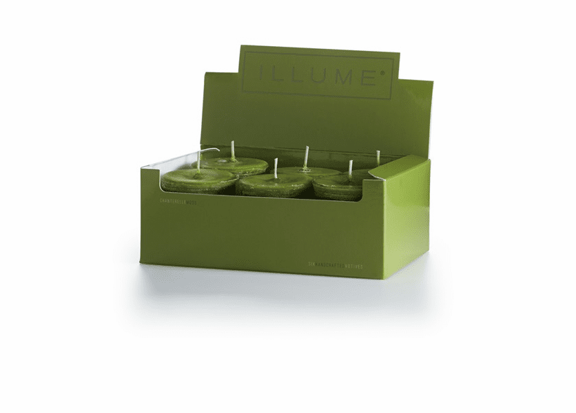 _DISCONTINUED - Chanterelle Moss 6-Pack Votive Illume Candle