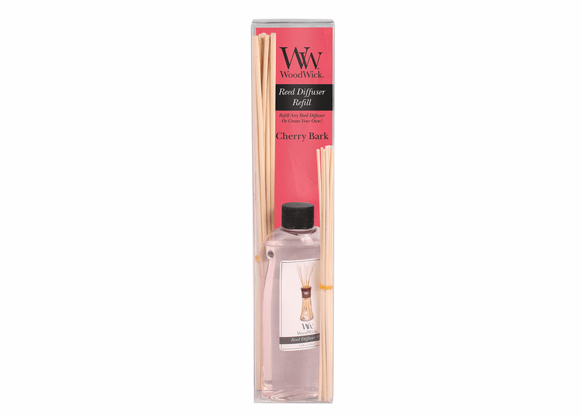 _DISCONTINUED - Cherry Bark WoodWick 7.4 oz. Reed Diffuser REFILL